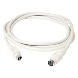 **Cable PS2 Extension Mini Din 6 H/M 1.5m para teclado o mouse*