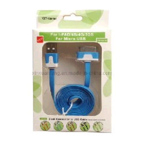 **Cable iPhone 4 30 pin 1m plano x1111*