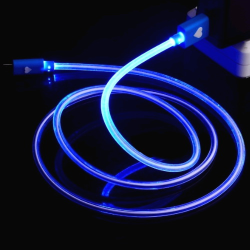 **Cable iPhone 5 6 lightning LED Corazon