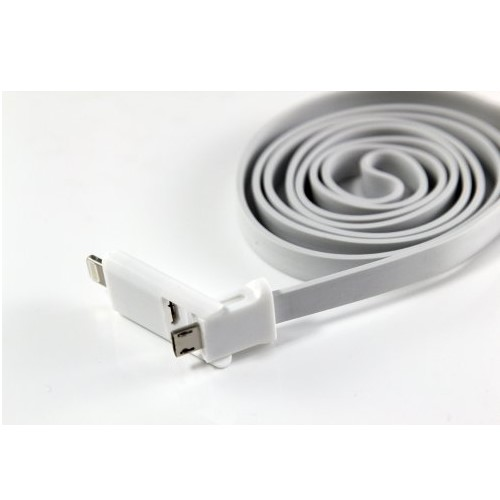 Cable dual conector microusb 2.0 y iphone 5 -8 1M $1500*